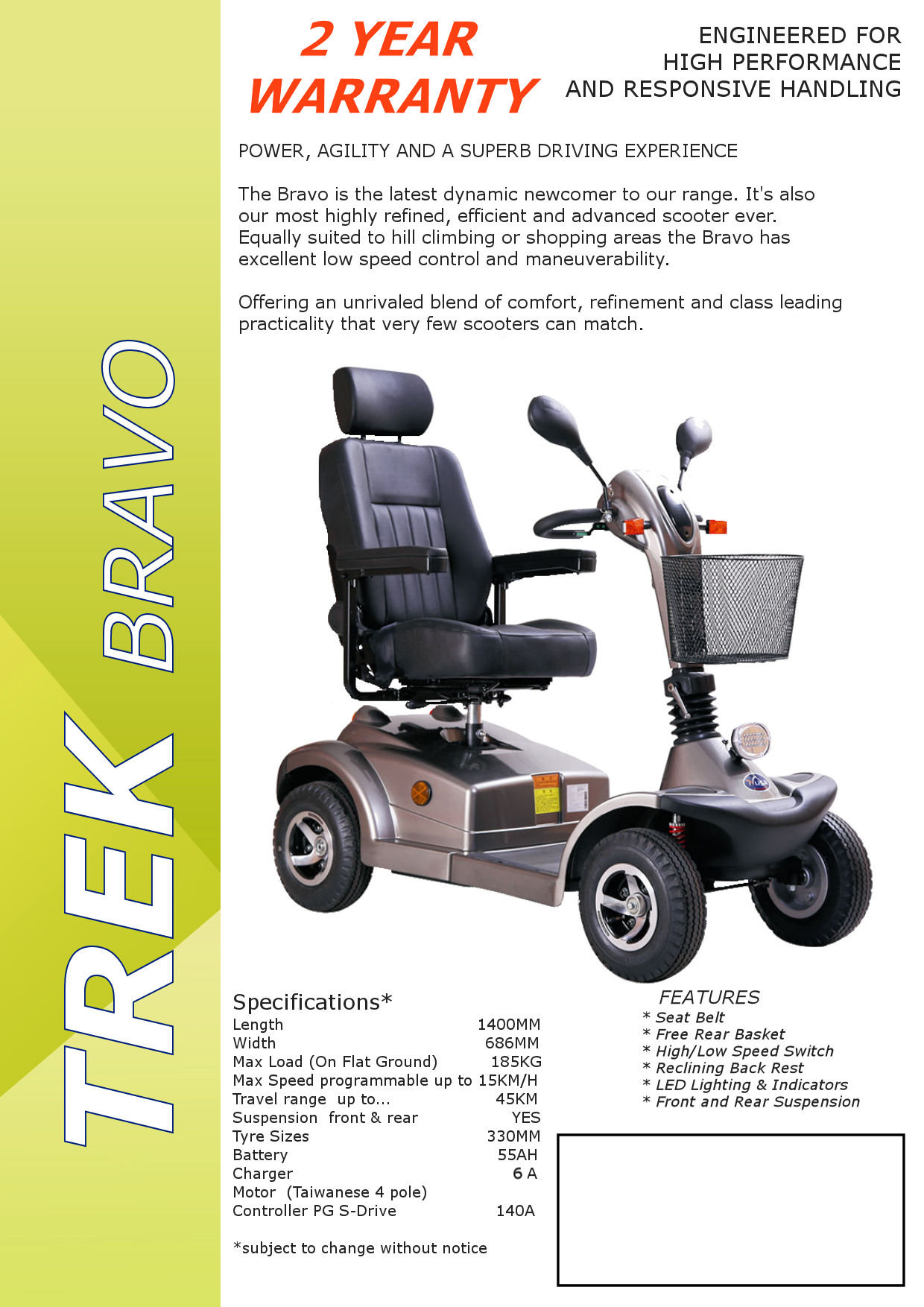 Trek Mobility Products MOBILITY SCOOTERS SUPASCOOTA POWER CHAIRS
